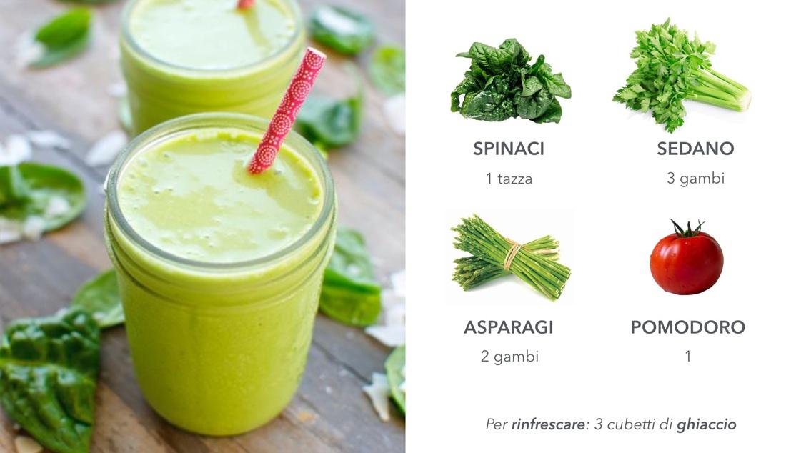 Energy drink: spinaci e sedano